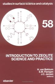 Cover of: Introduction to zeolite science and practice |