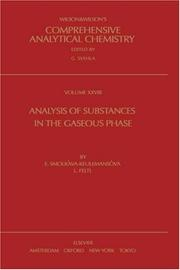 Cover of: Analysis of substances in the gaseous phase | E. SmolkovaМЃ-KeulemansovaМЃ