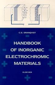 Cover of: Handbook of inorganic electrochromic materials by Claes G. Granqvist