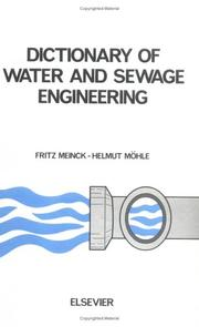 Cover of: Dictionary of water and sewage engineering