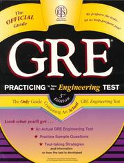 Cover of: GRE practicing to take the engineering test |