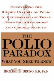 Cover of: The Polio Paradox | Richard L. Bruno