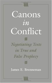 Canons in conflict by James E. Brenneman