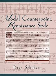 Cover of: Modal counterpoint, Renaissance style
