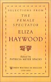 Cover of: Selections from The female spectator