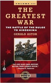 Cover of: The Greatest War, Volume III