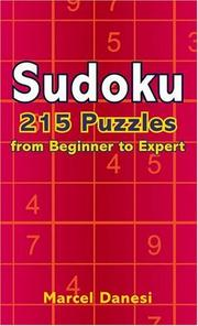 Cover of: Sudoku: 215 Puzzles from Beginner to Expert
