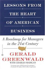 Cover of: Lessons From the Heart of American Business | Gerald Greenwald