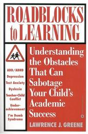 Cover of: Roadblocks to learning
