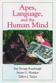 Cover of: Apes, language, and the human mind