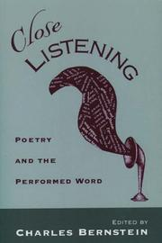 Cover of: Close listening |