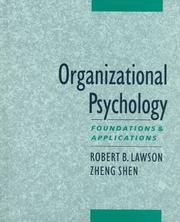 Cover of: Organizational Psychology | Robert Lawson