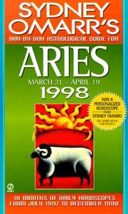 Cover of: Aries 1998 (Omarr Astrology) | Sydney Omarr