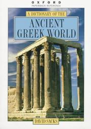 Cover of: Encyclopedia of the ancient Greek world