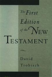 Cover of: The First Edition of the New Testament