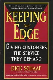 Cover of: Keeping the Edge | Dick Schaaf