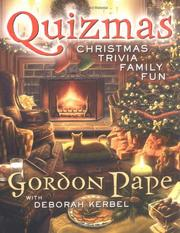 Cover of: Quizmas | Gordon Pape