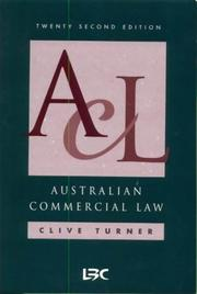Cover of: Australian commercial law. | C. F. Turner