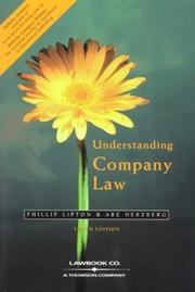 Cover of: Understanding company law