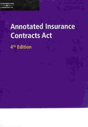 Annotated Insurance Contracts Act by Mann, Peter