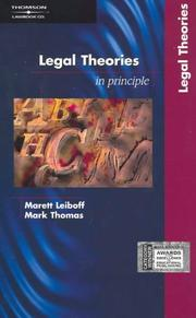 Cover of: Legal theories; in principle | Marett Leiboff
