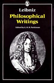 Cover of: Phil osophical writings [of] Leibniz