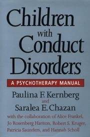 Cover of: Children with conduct disorders | Paulina F. Kernberg