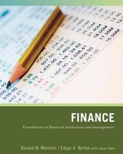 Cover of: Finance | Ronald W. Melicher