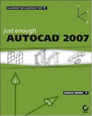 Cover of: Just Enough AutoCAD 2007