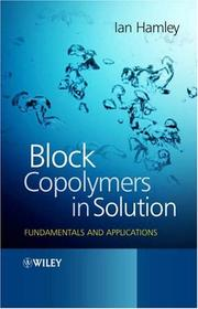 Cover of: Block Copolymers in Solution