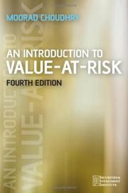 Cover of: An Introduction to Value-at-Risk (Securities Institute) | Moorad Choudhry