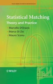 Cover of: Statistical matching by