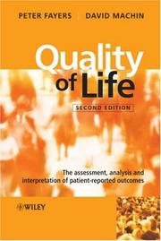 Cover of: Quality of life by