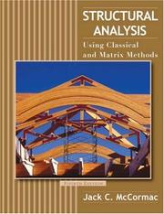 Cover of: Structural Analysis | Jack C. McCormac