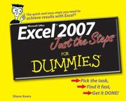 Cover of: Excel 2007 Just the Steps For Dummies (For Dummies (Computer/Tech))
