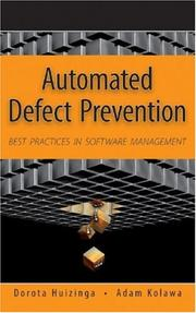 Cover of: Automated Defect Prevention | Dorota Huizinga, Adam Kolawa