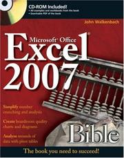 Cover of: Excel 2007 Bible