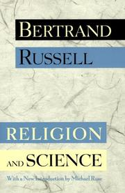 Cover of: Religion and science