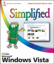 Cover of: Microsoft Windows Vista Simplified | Paul McFedries