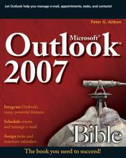 Cover of: Microsoft Outlook 2007 Bible