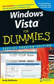 Cover of: Windows Vista For Dummies