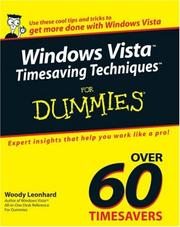Cover of: Windows Vista Timesaving Techniques For Dummies