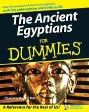 Cover of: The Ancient Egyptians For Dummies (For Dummies (History, Biography & Politics))