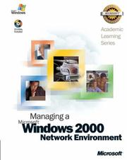 Cover of: 70-218 ALS Managing a Microsoft Windows 2000 Network Environment Package | Microsoft Official Academic Course