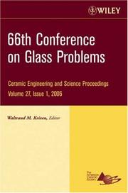 Cover of: 66th Conference on Glass Problems | Waltraud M. Kriven