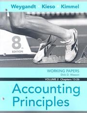 Cover of: Working Papers, Vol. II, Chs. 14-27 to Accompany Accounting Principles | Jerry J. Weygandt