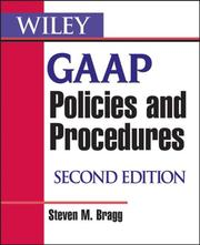 Cover of: Wiley GAAP Policies and Procedures