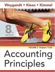 Cover of: Accounting Principles | Jerry J. Weygandt