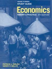 Cover of: Economics, Study Guide | Patrick J. Welch