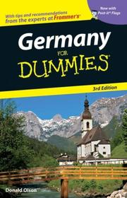 Cover of: Germany For Dummies (Dummies Travel) | Donald Olson